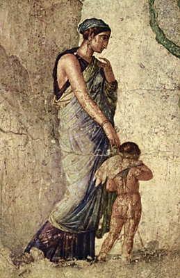 Помпеи. Эрос, наказанный Венерой, роспись.