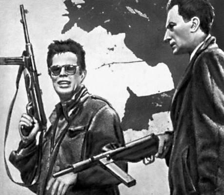 Кадр из фильма «Пепел и алмаз». Реж. А. Вайда. 1958.