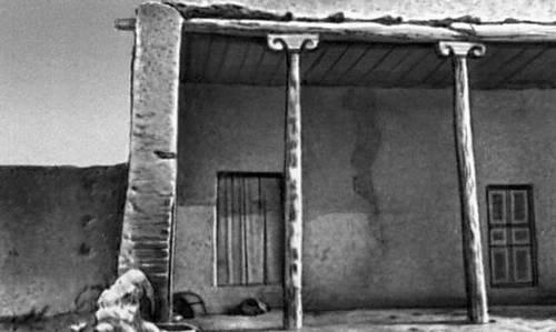 Туркменская ССР. Жилой дом в селении Мурча Ашхабадской области. Часть айвана. 19 в.