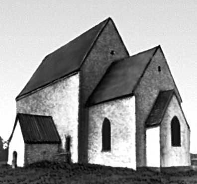 Архитектура 13 — начала 20 вв. Церковь на острове Муху. Около 1300.