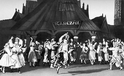 Сцена из балета «Пан Твардовский» Л. Ружицкого. «Театр Вельки». Варшава. 1957.