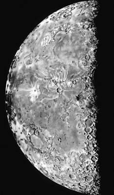 Луна в последней четверти (по рисунку чешского астронома И. Клепешты).