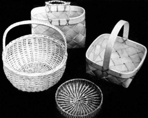 Плетеные изделия объединения мастеров народных художественных промыслов «Уку». 1970-е гг.