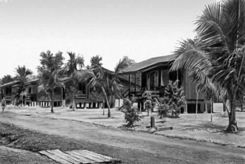 Типовой поселок в районе освоения новых земель в Западной Малайзии.