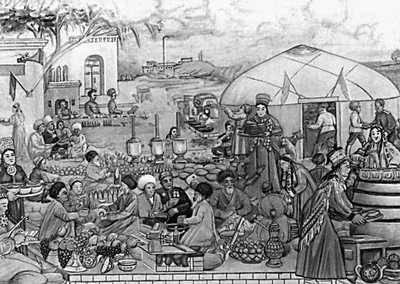 Б. Нурали. «Той победы». 1945. Музей изобразительных искусств Туркменской ССР. Ашхабад.