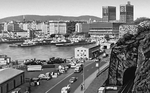 Осло. Вид приморской части города.
