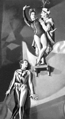 Сцена из балета «Пан Твардовский» Л. Ружицкого. Балетм. С. Мищик. Варшава. 1957.