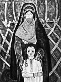 Ч. Амангельдыев. «К свету». Левая часть триптиха. 1969. Музей изобразительных искусств Туркменской ССР. Ашхабад.