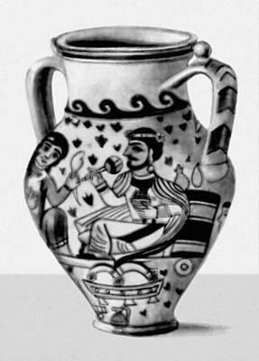 Древний Мерв. Расписной сосуд. 4—5 вв.