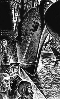 Х. Ларетей. «Люди и корабли». Линогравюра. 1965.