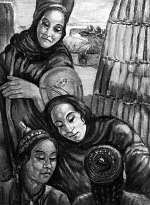 Туркменская ССР. С. Н. Бегляров. «Туркменки». 1929. Музей искусства народов Востока. Москва.