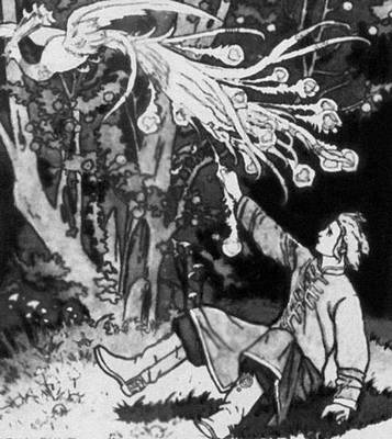 «Сказка об Иване-царевиче, Жар-птице и о Сером волке» (СПБ, 1901). Илл. И. Я. Билибина.