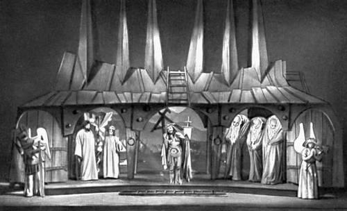 Сцена из спектакля «История о славном воскресении господнем». «Театр Народовы». Варшава. 1962.