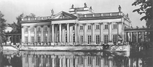Лазенки. Королевский дворец. 1784—1795. Архитектор Д. Мерлини. Северный фасад.