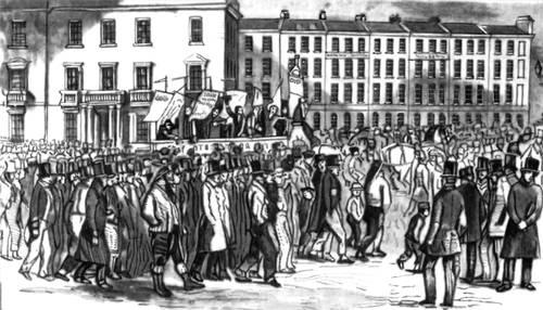 Чартистская демонстрация. Лондон. 10 апреля 1848