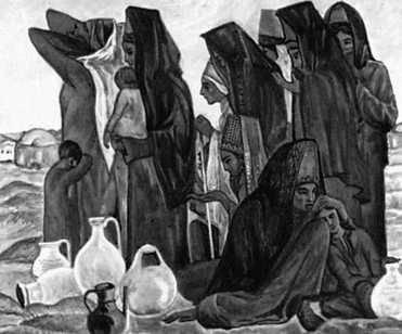 М. Мамедов. «Моление о воде». 1967. Музей изобразительных искусств Туркменской ССР. Ашхабад.
