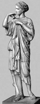 Пракситель (?). «Артемида из Габий». Мрамор. Античная копия или скульптура круга Праксителя. Лувр. Париж.
