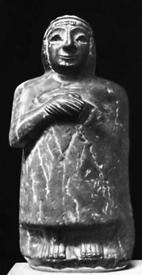 Каменная статуэтка из Лагаша. Британский музей. Лондон.