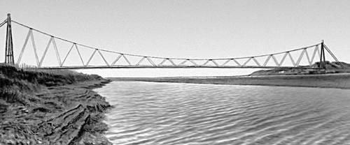 Мост через р. Амударью, соединяющий советский и афганский берега.