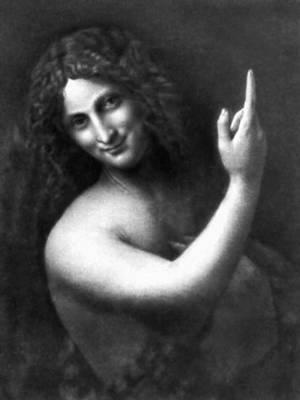 Леонардо да Винчи. «Иоанн Креститель». 1513—17. Лувр, Париж.