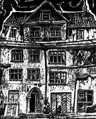 А. Кееренд. «Старый дом в Таллине». Из серии «Старые памятники культуры». 1963.