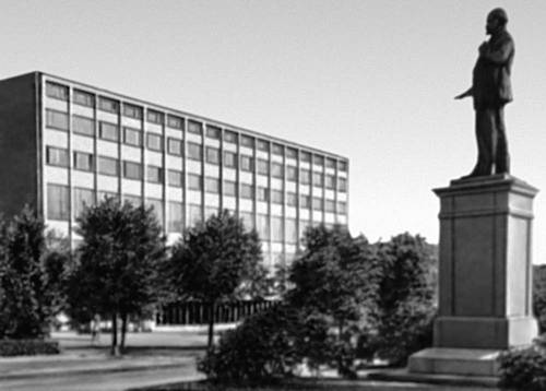 Архитекторуа Совесткой Эстонии. У. Тэльпус, П. Мадалик. Библиотека Академии наук Эстонской ССР. 1963. Таллин.
