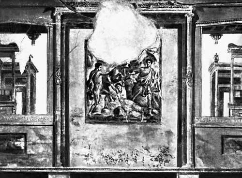Помпеи. Роспись дома Веттиев в Помпеях («4-й помпеянский стиль»). Фрагмент. 1 в. н. э.