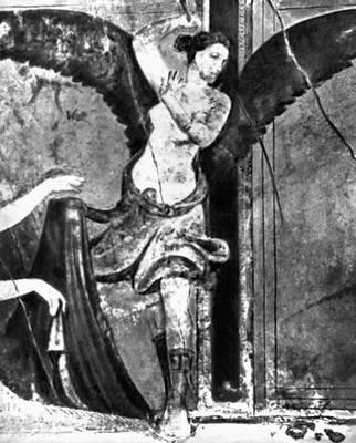 Помпеи. Роспись т. н. Виллы Мистерий близ Помпей («2-й помпеянский стиль»). Сер. 1 в. до н. э. Фрагмент.
