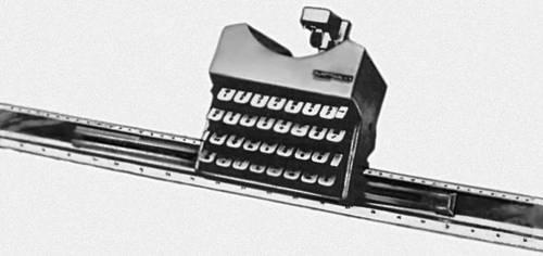 Рис. 2в. Конструкторская пишущая машина (МПК-1, СССР).