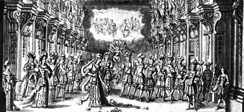 Сцена из балета «Триумф любви». Балетм. П. Бошан. 1681.