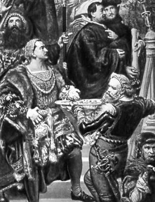 Я. Матейко. «Прусская дань». 1882. Фрагмент. Национальный музей. Краков.