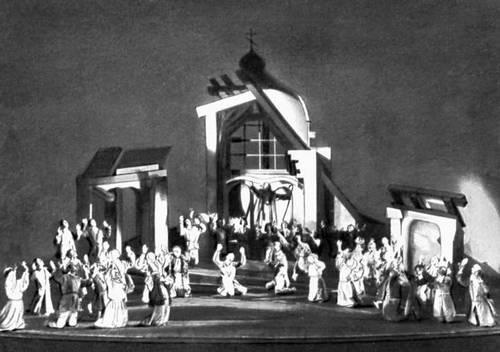 Сцена из спектакля «Дзяды» А. Мицкевича. «Театр Польски». Варшава. 1934.