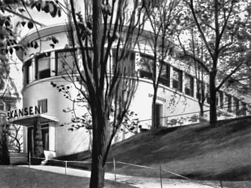 Осло. Ресторан «Скансен». 1926—27. Архитектор Л. Баккер.