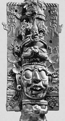 Мифология. Бог солнца. Горельеф из Паленке. Известняк. Культура майя. 7—8 вв. Национальный музей антропологии. Мехико.
