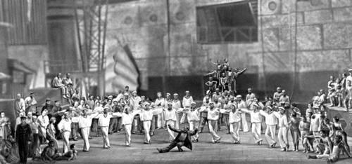 Сцена из спектакля Большого театра СССР «Ромео и Джульетта» С. С. Прокофьева. Балетм. Л. М. Лавровский. 1940.