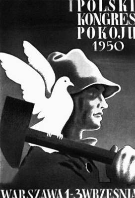 Плакат народной Польши. Т. Гроновский. «1-й польский конгресс мира». 1950.