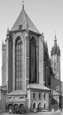 Алтарная часть костёла Девы Марии. Ок. 1360.