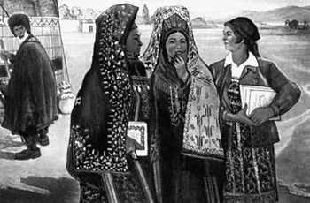Я. Аннануров. «30-е гг.». 1962. Музей изобразительных искусств Туркменской ССР. Ашхабад.