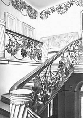 С. Выспяньский. Декоративное оформление лестницы в доме Медицинского общества в Кракове. Около 1905.