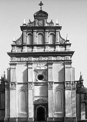Польша. Костёл Троицы в Радзыне Подляски. Западный фасад (1641).