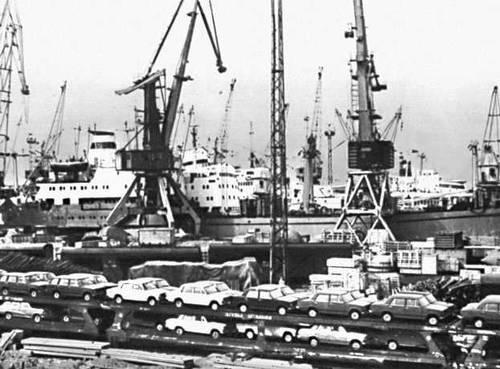 Таллинский морской торговый порт.