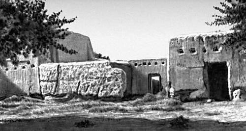 Руины эрсаринской усадьбы близ селения Халач Чарджоуской области. 19 в.