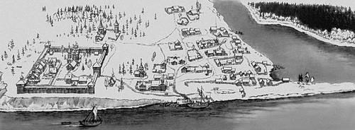 Мангазея. Реконструкция по материалам раскопок 1968—70.