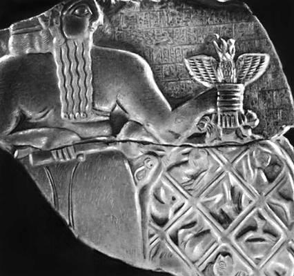 Стела Эаннатума («Стела коршунов»). 25 в. до н. э. Фрагмент. Лувр. Париж.