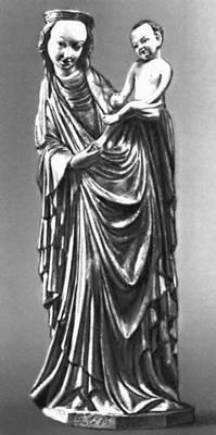 Скульптура 12—15 вв. «Мадонна из Кружлёвой». Дерево. 1410. Национальный музей. Краков.