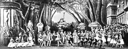 Сцена из балета «Спящая красавица» П. И. Чайковского. Балетм. М. И. Петипа. Петербург. 1890.