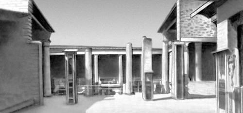 Жилище. Атриумно-перистильный дом в Помпеях. 1 в. н. э.