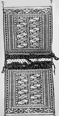 Туркменская ССР. Хурджум ворсовый с рисунком «теке-гёль». 20 в.