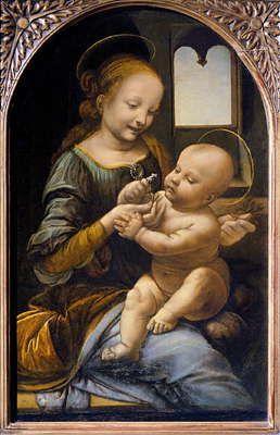 Леонардо да Винчи. «Мадонна Бенуа». Около 1478. Эрмитаж. Ленинград.