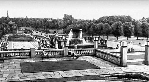 Осло. Фрогнер-парк со скульптурным ансамблем (скульптор А. Г. Вигеланн. 1900—43).